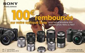 Sony appareils photo : jusqu'à 100 € remboursés