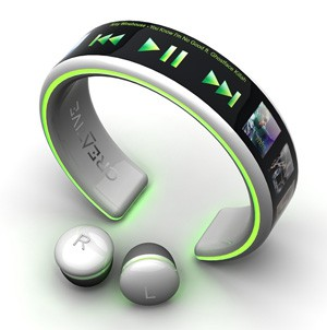 MP3 Player Creative : concept futuriste
