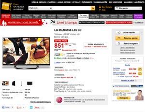 TV LED 55'' LG pas cher : la très bonne affaire !