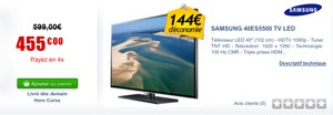 Cdiscount : un 40'' Samsung à 455 €