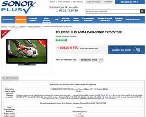 Plasma Panasonic : 55'' à moins de 1 700 €