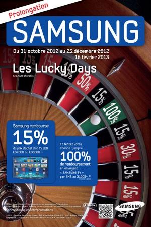 Offre de remboursement LED Samsung : prolongation des Lucky Days !