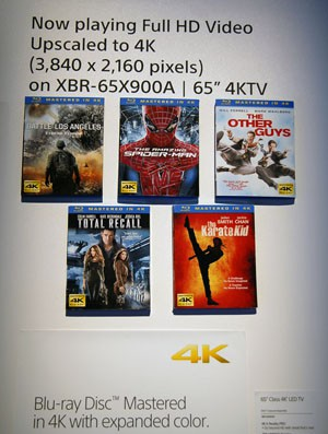 CES 13 > Disques Blu-Ray Sony SPHE : label 4K sur les packagings ?