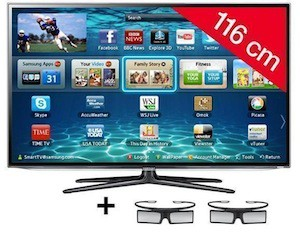 Smart TV 3D Samsung : ‑34% sur un 46''
