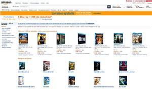 Nouvelle offre Blu-Ray Amazon : 20 € de réduction pour 4 BD achetés