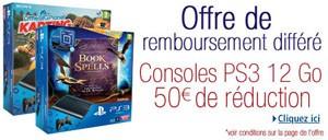 Console PlayStation 3 : 50 € remboursés chez Amazon