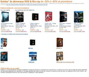 Soldes Amazon 3ème démarque : Blu-Ray et DVD à petits prix
