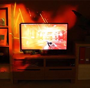 Microsoft Illumiroom : le jeu vidéo sort de l'écran