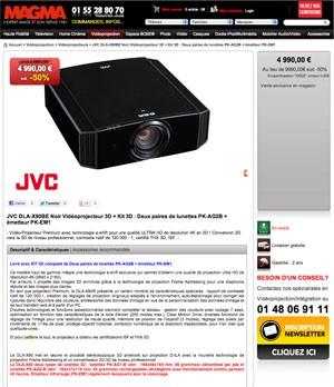 JVC DLA-90 3D Ready : quelques unités à saisir à -50%!