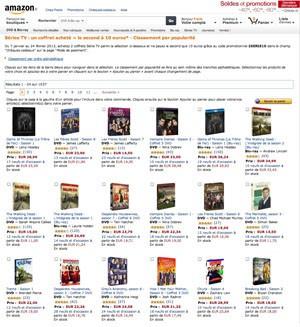 Offre Amazon séries TV BD/DVD : 1 coffret série TV acheté, le 2e à 10€