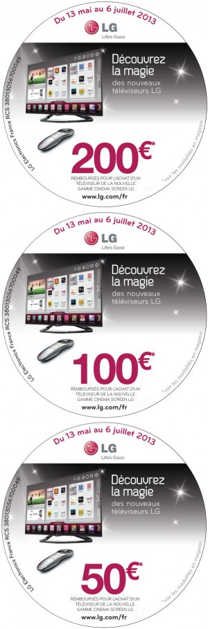 offre de remboursement lg smart tv jusqu 39 200 rembours s. Black Bedroom Furniture Sets. Home Design Ideas