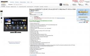 soldes amazon tv led 29 sur le samsung ue46d5700. Black Bedroom Furniture Sets. Home Design Ideas