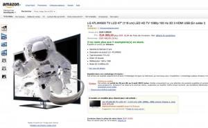 soldes amazon tv led 31 sur le lg 47lm4500. Black Bedroom Furniture Sets. Home Design Ideas