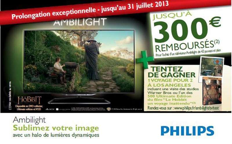 remboursement tv led philips 100 300 rembours s jusqu 39 au 31 juillet. Black Bedroom Furniture Sets. Home Design Ideas