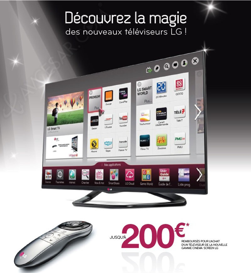 remboursement lg smart tv prolong jusqu 39 200 rembours s. Black Bedroom Furniture Sets. Home Design Ideas