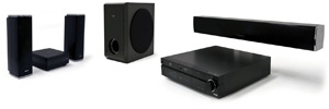 CES 09 > Sharp BD-MPC60 : ensemble Blu-Ray 5.1 bis