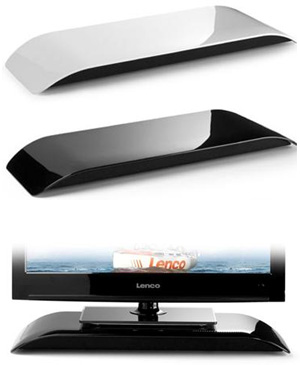 lenco ts 10 barre de son 2 1 ultra fine et polyvalente. Black Bedroom Furniture Sets. Home Design Ideas