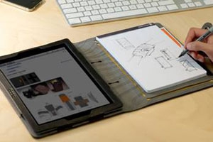 Étui BooqPad : combi iPad/bloc-notes