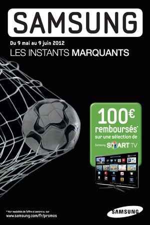 offre de remboursement tv led samsung 100 rembours s sur une s lection de tv. Black Bedroom Furniture Sets. Home Design Ideas