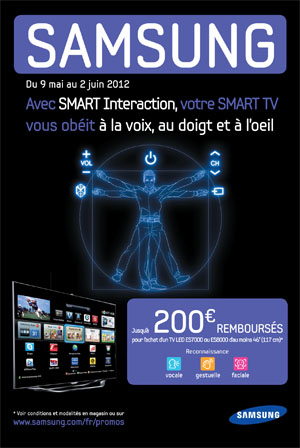 offre de remboursement tv led samsung jusqu 39 200 sur samsung es7000 es8000. Black Bedroom Furniture Sets. Home Design Ideas