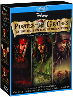 pirates des cara bes coffret 6 blu ray. Black Bedroom Furniture Sets. Home Design Ideas