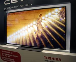 LED Toshiba Quad HD : trois téléviseurs annoncés