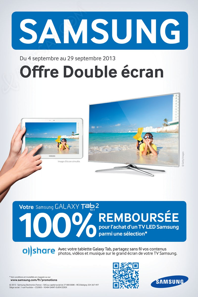 offre samsung double cran tablette galaxy tab 2 rembours e. Black Bedroom Furniture Sets. Home Design Ideas