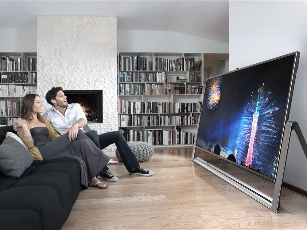 Tv ultra hd tcl 110 39 39 279 cm de diagonale dispo chez for Living room with 65 inch tv
