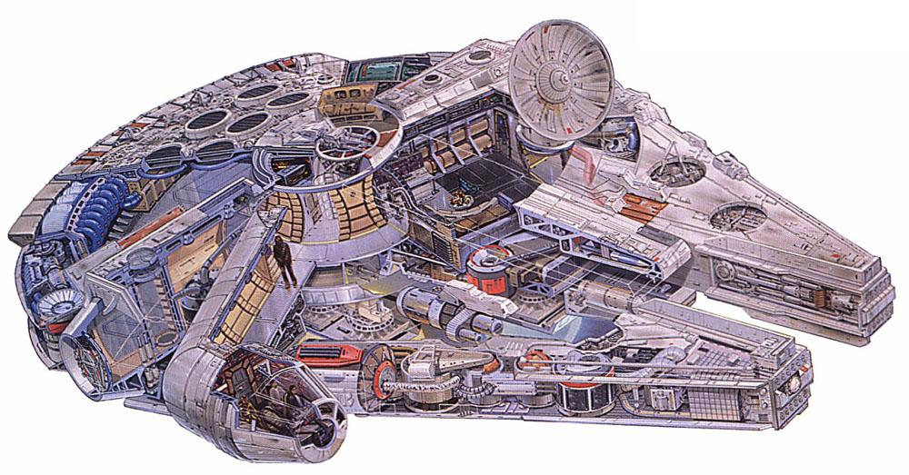 Star wars vii le d cor du faucon millenium d j for Interieur faucon millenium