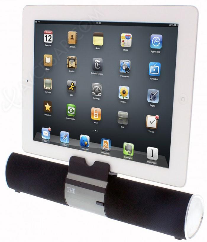 barre de son bluetooth t nb et support pour tablette. Black Bedroom Furniture Sets. Home Design Ideas