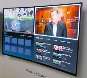CES 14 > TV LED Ultra HD Samsung HU8500 : fonction Split Screen exclusive