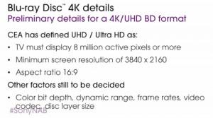 Blu-Ray Ultra HD/4K en magasins ? : Sony annonce Noël 2015