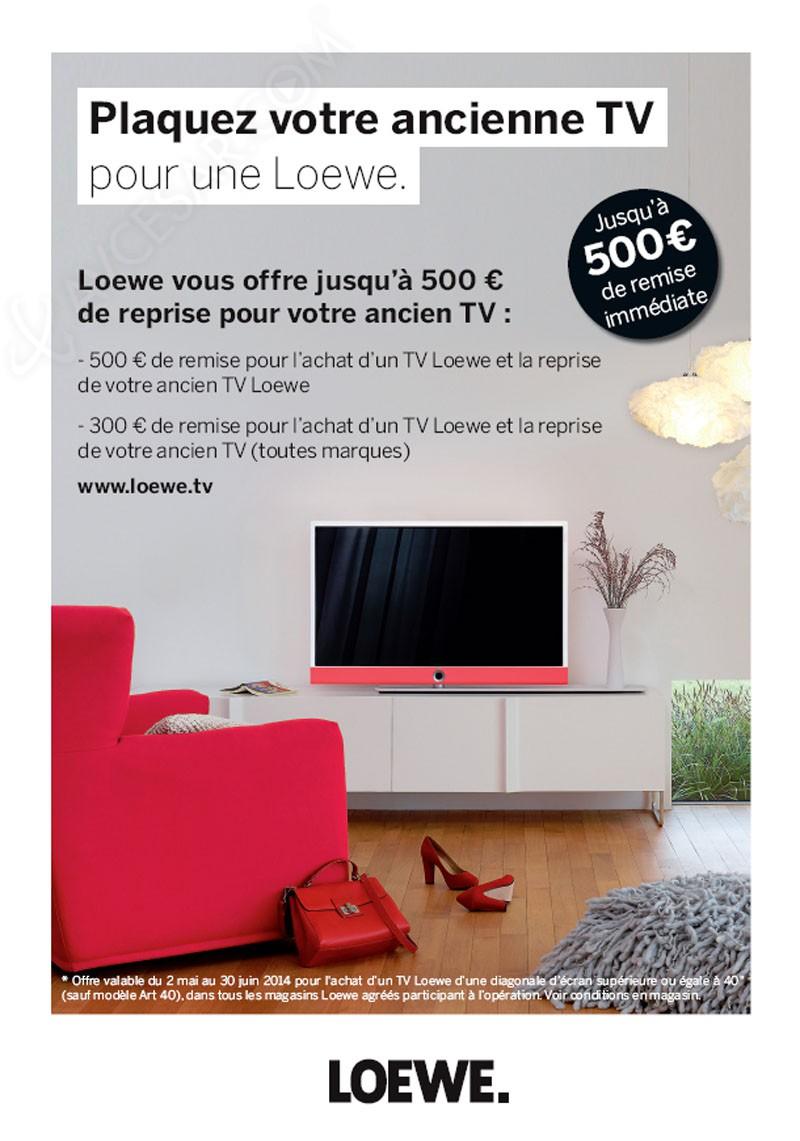 offre de reprise loewe jusqu 39 500 pour votre ancien tv. Black Bedroom Furniture Sets. Home Design Ideas