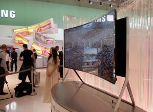 IFA 14 > TV Ultra HD Samsung 21/9 105'' : écran LED flexible