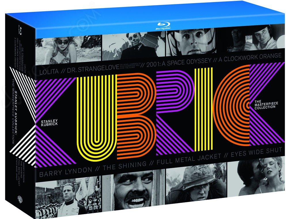 coffret blu ray kubrick the masterpiece collection. Black Bedroom Furniture Sets. Home Design Ideas