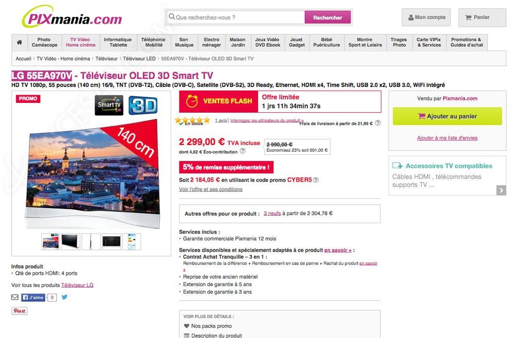 promos internet tv oled full hd les prix les moins chers. Black Bedroom Furniture Sets. Home Design Ideas