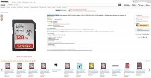 Offres éclair Amazon carte mémoire : -53% SanDisk Ultra 128 Go SDXC