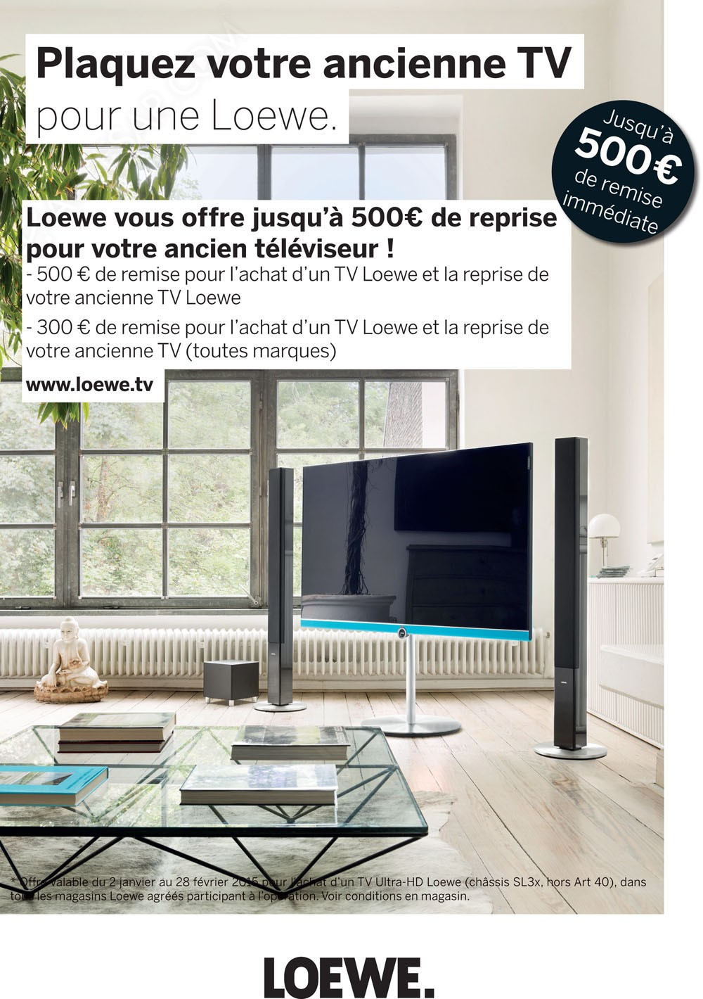 plaquez votre tv pour un tv loewe jusqu 39 500 de reprise. Black Bedroom Furniture Sets. Home Design Ideas