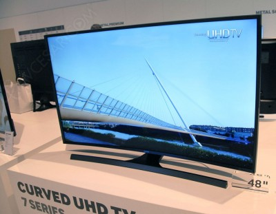 TV LED Ultra HD Samsung JU7500 courbes : quatre tailles d'écran en approche