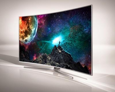 TV LED Ultra HD Samsung JS8500 courbe : pas distribué en France