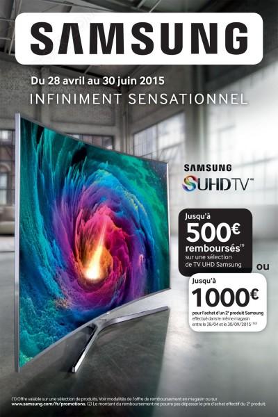 Offre de remboursement Samsung TV UHD : jusqu'à 1 000 € remboursés