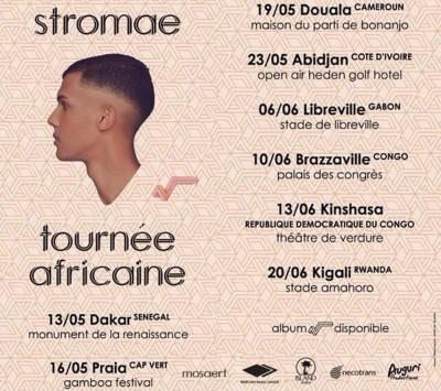 Stromae fait le Paris-Dakar : les dates de la tournée africaine