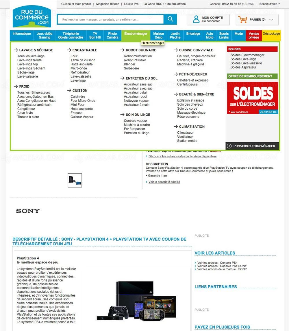 solde jeu vid o 15 5 sur ps4 playstation tv coupon jeu. Black Bedroom Furniture Sets. Home Design Ideas