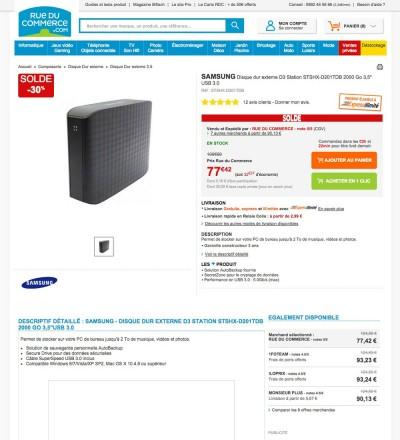 solde disque dur externe 30 samsung d3 station 2 to. Black Bedroom Furniture Sets. Home Design Ideas