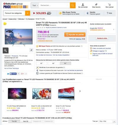 Solde TV Ultra HD Panasonic 55AX630 : 779 € jusqu'à dimanche…