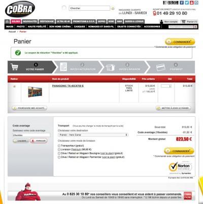 Solde TV Ultra HD Panasonic TX-40CX700E : 823,5 € soit une remise de 17,5%