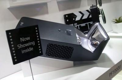 IFA 15 > Minibeam LG PF1000U : vidéoprojecteur ultracourtefocale