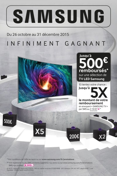 offre de remboursement samsung tv uhd jusqu 39 500 rembours s. Black Bedroom Furniture Sets. Home Design Ideas