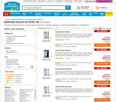 Samsung Galaxy S6 Edge : -35% sur Rueducommerce.fr