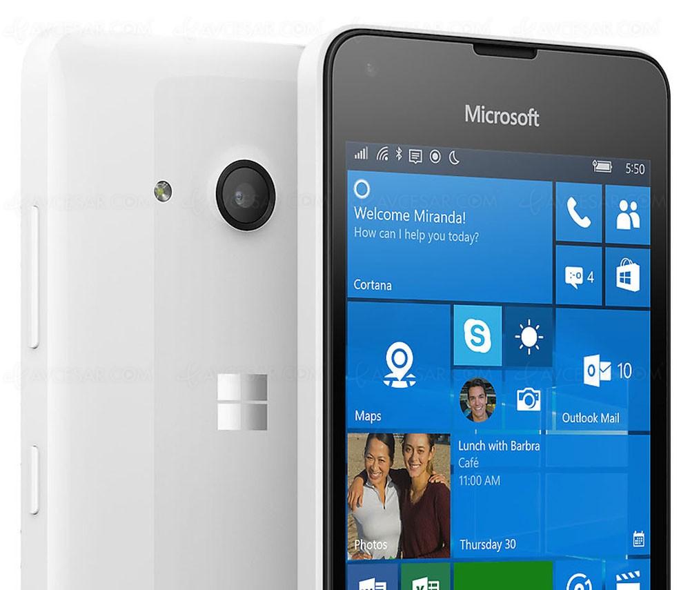 microsoft lumia 550 4g windows 10 et petit prix. Black Bedroom Furniture Sets. Home Design Ideas